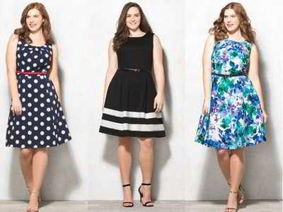 Летние платья для полных девушек